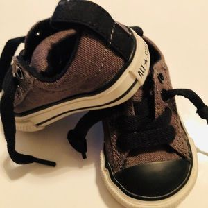Baby converse shoes.